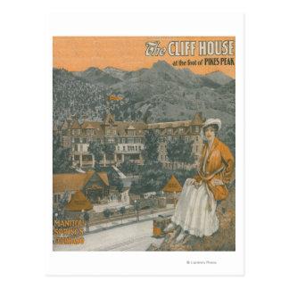 Cartão Postal A casa do penhasco & o pico dos piques