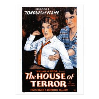 Cartão Postal A casa do terror #2 - línguas da chama
