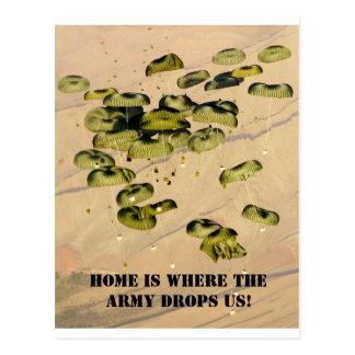 Cartão Postal A casa é o lugar aonde o exército nos deixa cair!