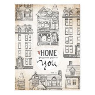 Cartão Postal A casa é onde quer que eu sou com você