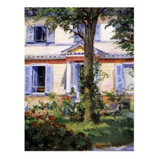 Cartão Postal A casa em Rueil por Edouard Manet