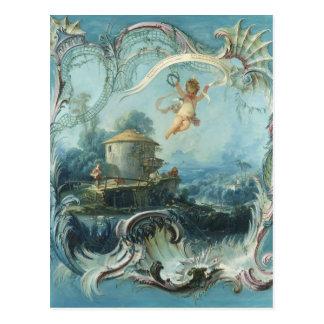 Cartão Postal A casa Enchanted por Francois Boucher