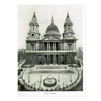 Cartão Postal A catedral 1900 de St Paul
