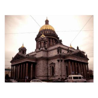 Cartão Postal A catedral de Isaac do santo