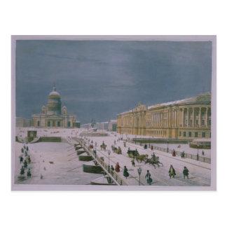 Cartão Postal A catedral de Isaac e o quadrado do Senado