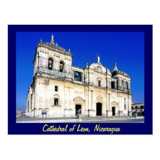 Cartão Postal A catedral de Leon