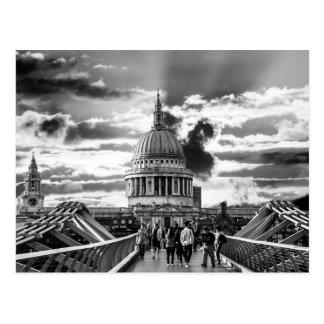 Cartão Postal A catedral de St Paul, Londres