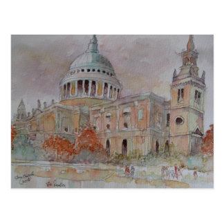 Cartão Postal A catedral de St Paul. Londres