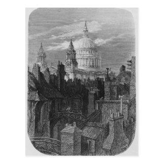 Cartão Postal A catedral e os precários de St Paul
