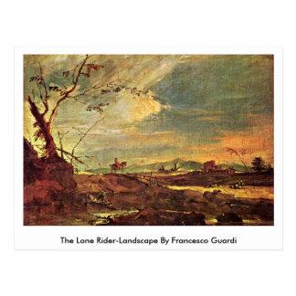 Cartão Postal A Cavaleiro-Paisagem solitária por Francesco
