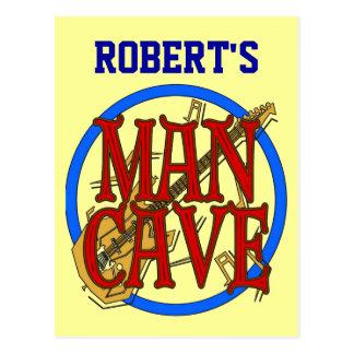 Cartão Postal A caverna do homem adiciona o sinal conhecido