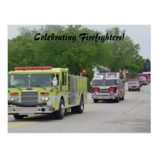 Cartão Postal A celebração do sapador-bombeiro