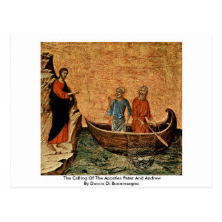 Cartão Postal A chamada dos apóstolos Peter e Andrew