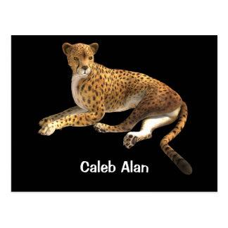 Cartão Postal A chita selvagem do gato manchou o animal do gato