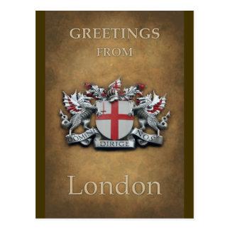 Cartão Postal A cidade de Londres arma cumprimentos