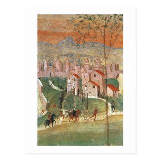 Cartão Postal A cidade de Prato (fresco)