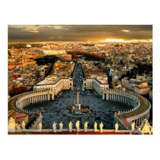 Cartão Postal A Cidade do Vaticano quadrada de St Peter