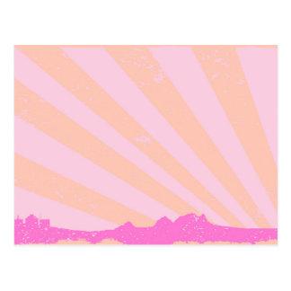 Cartão Postal A cidade irradia o Grunge da silhueta