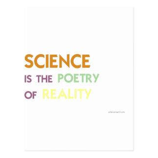 Cartão Postal A ciência é a poesia da realidade