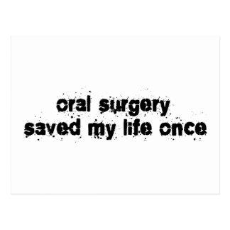 Cartão Postal A cirurgia oral salvar minha vida uma vez