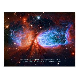 Cartão Postal A cisne, nascimento da estrela no Cygnus da
