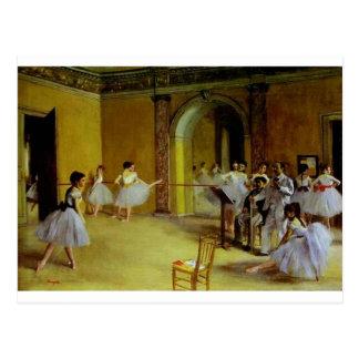 Cartão Postal A classe de dança na ópera desgaseifica perto