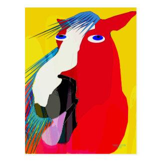 Cartão Postal A coleção Bocejo-Lunática grande do cavalo