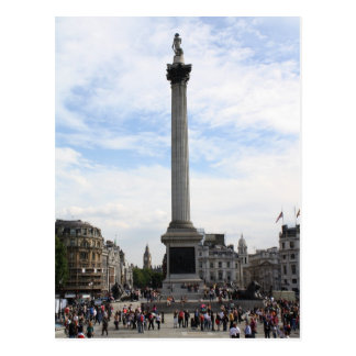 Cartão Postal A coluna de Nelson, quadrado de Trafalgar