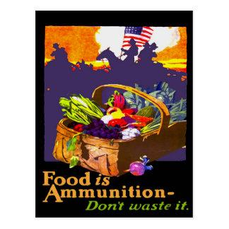 Cartão Postal A comida é munição