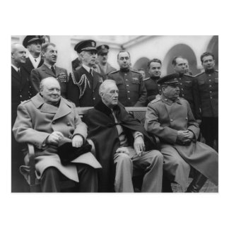 Cartão Postal A conferência de Yalta