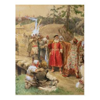 Cartão Postal A conquista das regiões novas em Rússia, 1904
