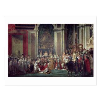 Cartão Postal A consagração do imperador Napoleon