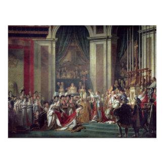 Cartão Postal A consagração e o Josephine de Napoleon