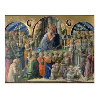 Cartão Postal A coroação do Virgin, 1441-7 (tempera em p