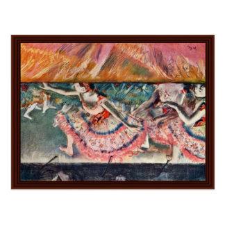 Cartão Postal A cortina cai por Edgar Degas