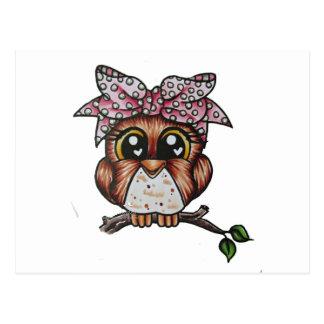 Cartão Postal A coruja de Adriana por Cheri Lyn Shull