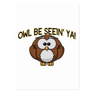 Cartão Postal A coruja seja Seein Ya