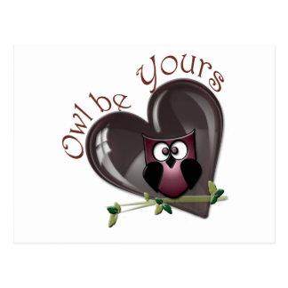 Cartão Postal A coruja seja sua, presentes do dia dos namorados