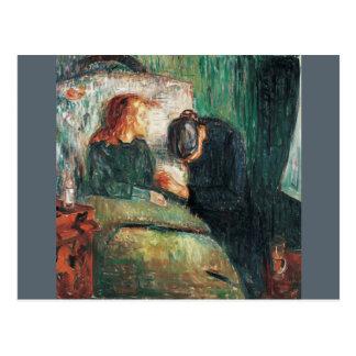 Cartão Postal A criança doente por Edvard Munch, mostras Sofie