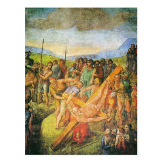 Cartão Postal A crucificação de St Peter