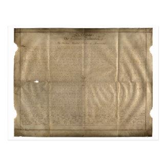 Cartão Postal A declaração de Sussex de independência (C. 1780)