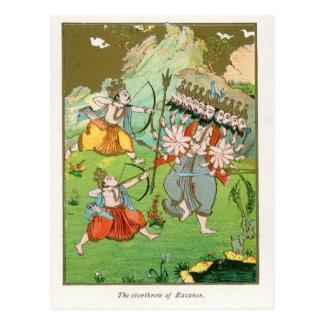 Cartão Postal A derrota de Ravana