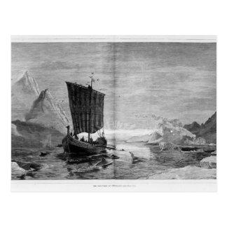 Cartão Postal A descoberta de Greenland