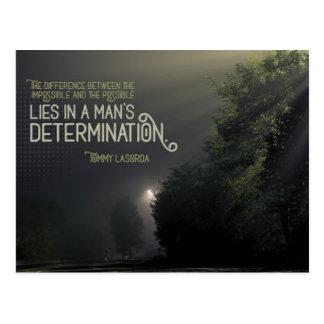 Cartão Postal A determinação do homem