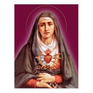 Cartão Postal A devoção de sete amarguras a Virgem Maria