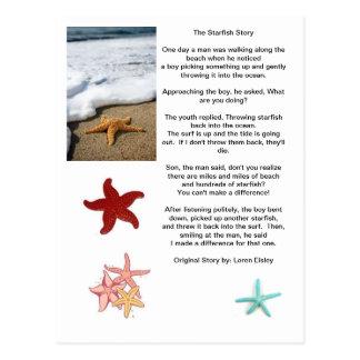 Cartão Postal A diferença de uma, história da estrela do mar