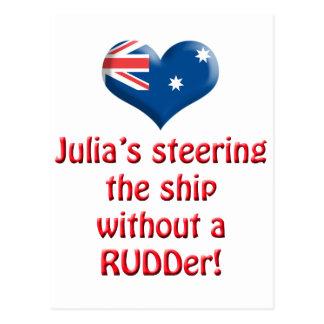 Cartão Postal A direcção de Julia o navio
