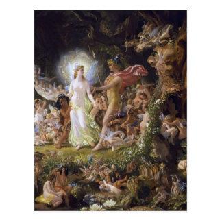 Cartão Postal A discussão de Oberon e de Titania