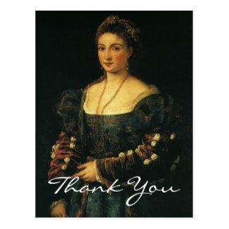 Cartão Postal A duquesa de Titian de Urbino