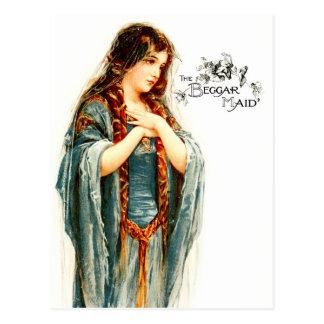 Cartão Postal A empregada doméstica bonita do mendigo